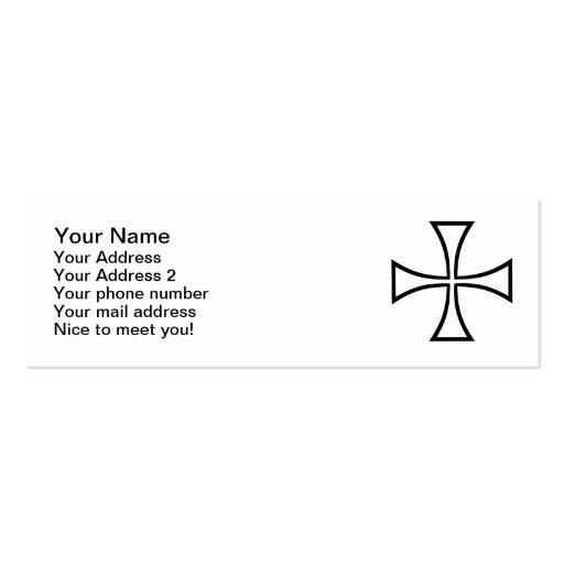 Iron cross business card template