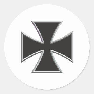 Iron Cross Classic Round Sticker