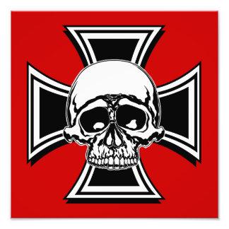 Iron Cross Military Emblem Skull Design by Beatty Art Photo