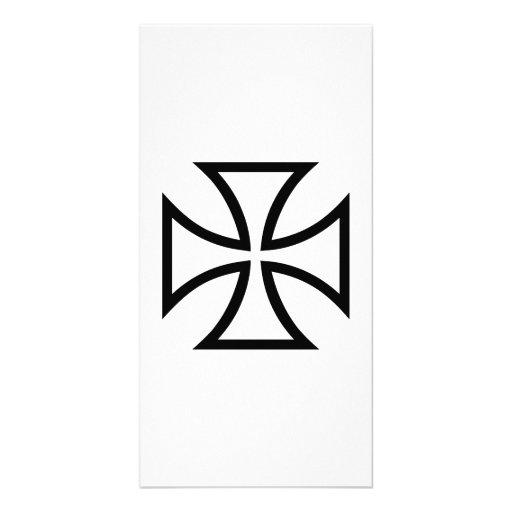 Iron cross customized photo card