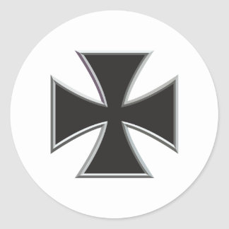 Iron Cross Round Sticker
