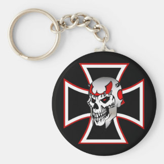 Iron Cross Skull keychain