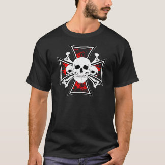 Iron Cross with Skulls and Cross Bones T-Shirt