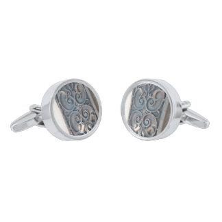 iron designs silver finish cufflinks