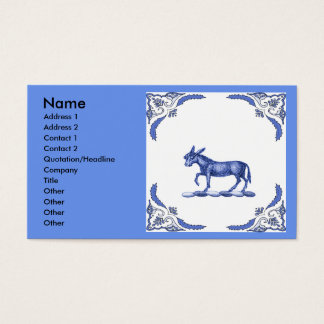 Iron Donkey  Abstract Business Card