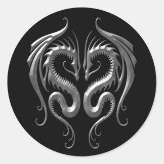 Iron Dragons Round Sticker
