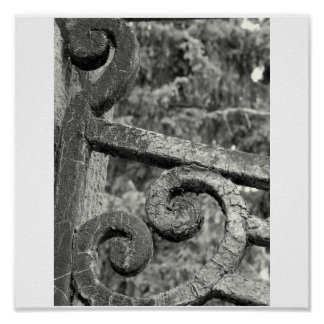 Iron fence detail poster