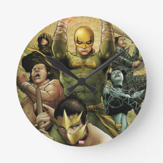 Iron Fist And The Immortal Weapons Round Clock