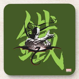 Iron Fist Chinese Name Graphic Coaster