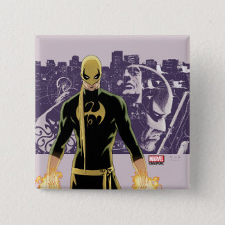Iron Fist City Silhouette 15 Cm Square Badge