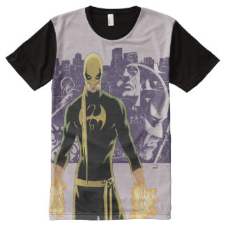Iron Fist City Silhouette All-Over Print T-Shirt