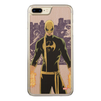Iron Fist City Silhouette Carved iPhone 8 Plus/7 Plus Case