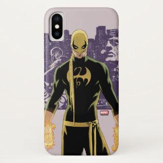 Iron Fist City Silhouette iPhone X Case