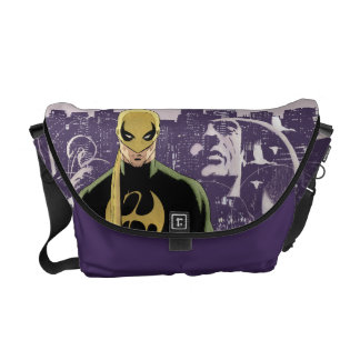 Iron Fist City Silhouette Messenger Bags