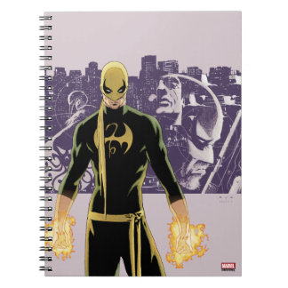 Iron Fist City Silhouette Spiral Notebook
