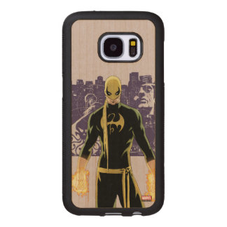 Iron Fist City Silhouette Wood Samsung Galaxy S7 Case