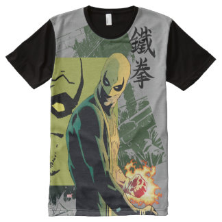 Iron Fist Comic Book Graphic All-Over Print T-Shirt