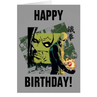 Iron Fist Comic Book Graphic Card