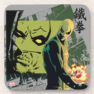 Iron Fist Comic Book Graphic Coaster