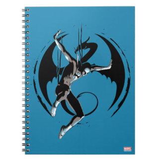 Iron Fist Dragon Landing Notebook