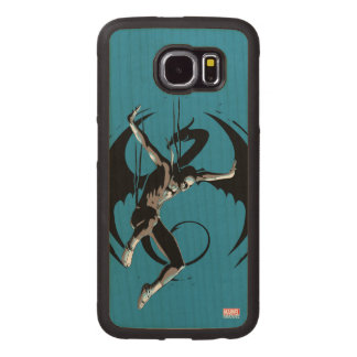 Iron Fist Dragon Landing Wood Phone Case