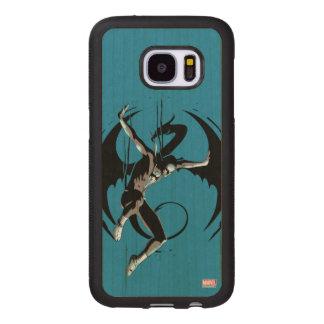 Iron Fist Dragon Landing Wood Samsung Galaxy S7 Case