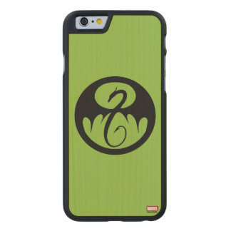 Iron Fist Logo Carved Maple iPhone 6 Case