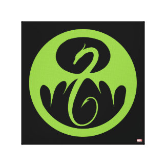 Iron Fist Logo - Green Canvas Print
