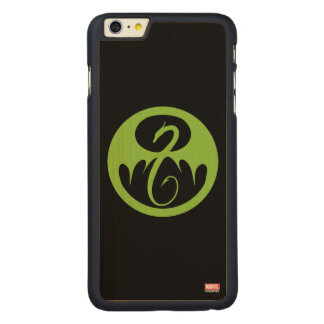 Iron Fist Logo - Green Carved Maple iPhone 6 Plus Case
