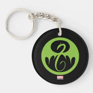 Iron Fist Logo - Green Key Ring
