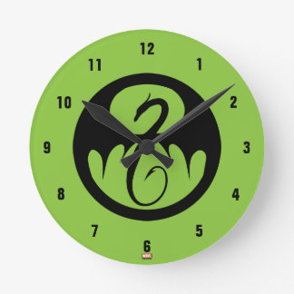 Iron Fist Logo Round Clock