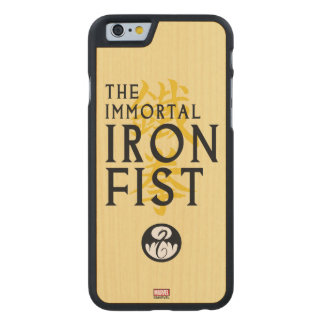 Iron Fist Name Graphic Carved Maple iPhone 6 Case