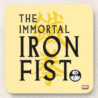 Iron Fist Name Graphic Coaster
