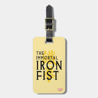 Iron Fist Name Graphic Luggage Tag