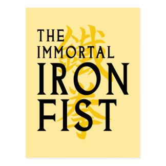 Iron Fist Name Graphic Postcard