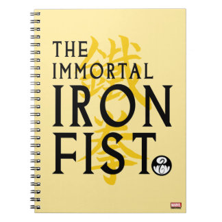 Iron Fist Name Graphic Spiral Notebook