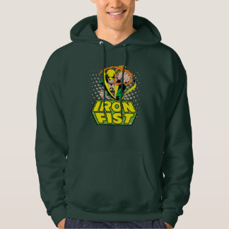 Iron Fist Retro Character Art Graphic Hoodie