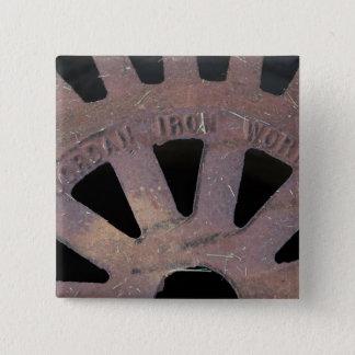 Iron Grate 15 Cm Square Badge