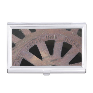 Iron Grate Business Card Holder