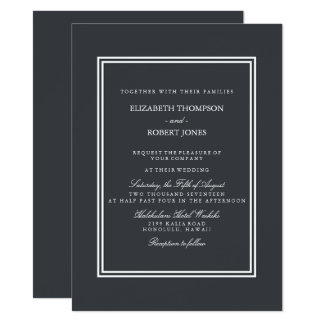 Iron Grille Grey with White Borders and Text 14 Cm X 19 Cm Invitation Card