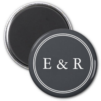 Iron Grille Grey with White Borders and Text 6 Cm Round Magnet