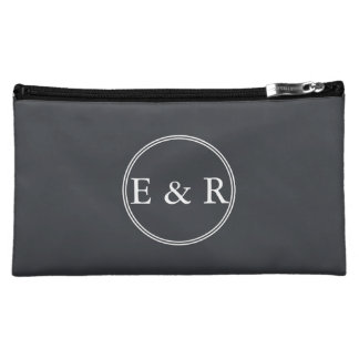 Iron Grille Grey with White Borders and Text Cosmetic Bag