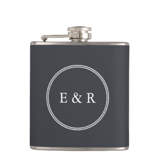 Iron Grille Grey with White Borders and Text Flasks