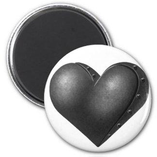 Iron Heart 6 Cm Round Magnet