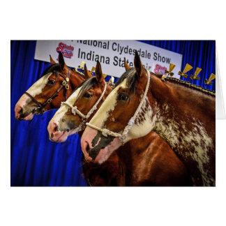 Iron Horse 3 heads Card