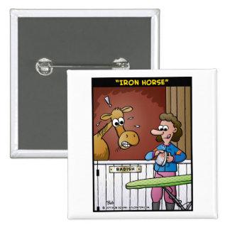 """Iron Horse"" Pinback Button"