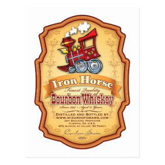 Iron Horse Bourbon Postcard