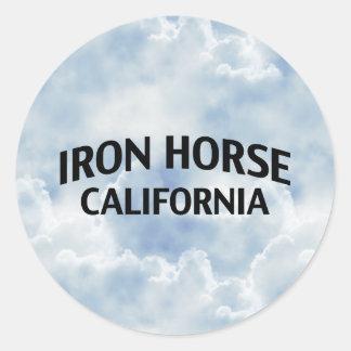Iron Horse California Round Stickers