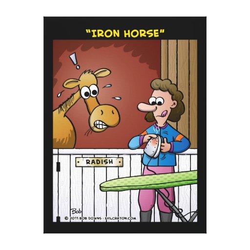"""Iron Horse"" Canvas Prints"