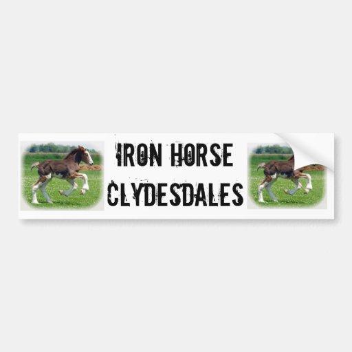 Iron Horse Clydesdales Bumper Sticker